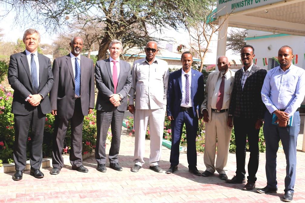 Hargaysa:- Wasiirka Wasaradda Arimaha Gudaha Somaliland Oo La Kulmay Masuul Ka Socda Xafiiska Xoghayaha Qaramada Midoobay.