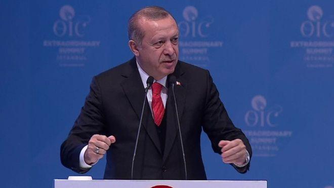 """Madaxweynaha Turkiga Recep Tayyip Erdogan Oo Qudus waa """"in ay noqoto caasimadda Falastiin"""""""
