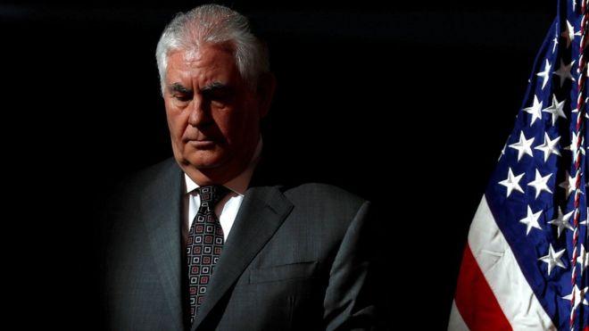 Maraykanka:- Trump oo shaqada ka eryay xoghayihiisii arrimaha dibedda Rex Tillerson.