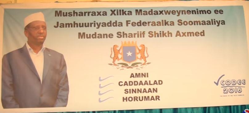 Daawo: Shariif Sheikh Axmed oo Shaaca Ka Qaaday ino uu Taaganyahay Xilka Madaxweynaha Dowlada Somalia