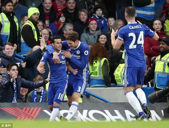 Chelsea Oo Guusheedii 12-Aad Oo Xidhiidh Ah Ka Gaadhay Bournemouth, Eden Hazard & Pedro Rodriguez Oo Antonio Conte Ka Caawiyay In Uu Galo Taariikhda Kooxdiisa Bues.