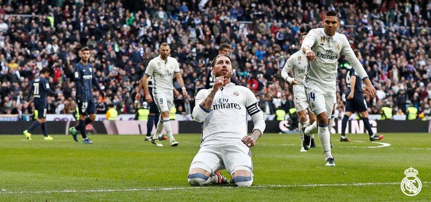 Sergio Ramos Oo Markale Noqday Geesiga Real Madrid, Los Blancos Oo Dhibaatadii Iskaga Reebtay Malaga Iyo Ramos Oo Laba Gool Culayska Kaga Qaaday Zidane.
