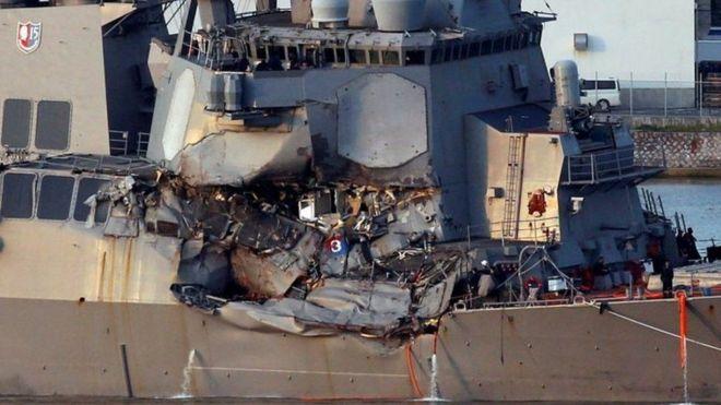 USS Fitzgerald Baadi goob loogu jiro badmaaxayaal Maraykan ah