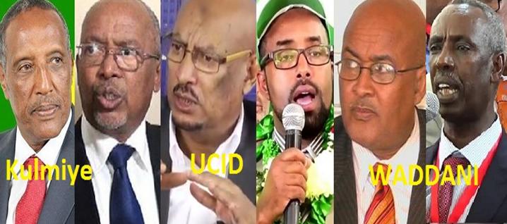 Bulshada Somaliland Oo Isha Ku Haysa Kala Xulashada Iyo Falaqaynta Musharaxiinta Saddexda Xisbi Qaran Ee WADDANI KULMIYE Iyo UCID Oo Afartan Cisho Kadib Tartan Ku Kala Bixi Doona