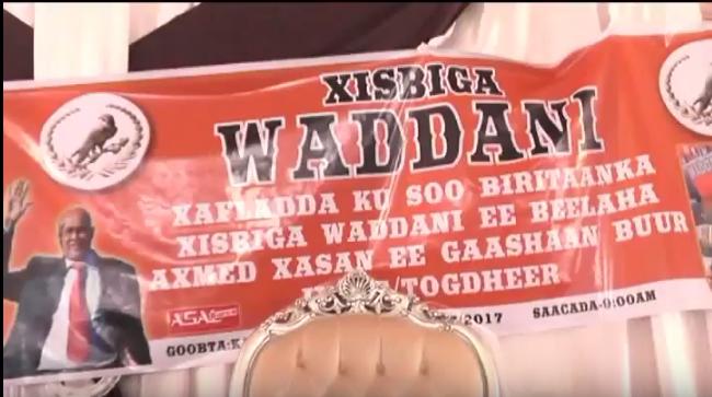 Daawo;Xisbiga Waddani Oo Manta Xaflad So Dhawayna Usameyay Tagerayal Kaso Jeda Waqooyiga Gobalka Togdheer Kana So Diga Rogtay Xisbiga Kulmiye.