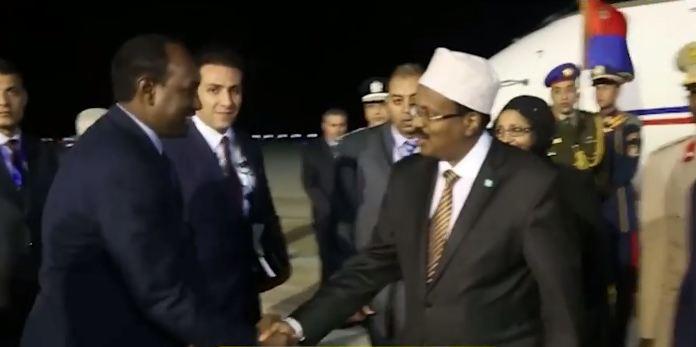 DAAWO Madax Waynahah Dalka Somaliya Iyo Wafti Uu Hogaaminayo Ayaa Gaadhay Dalka Masar + Arimaha Lagag Hadlayo.