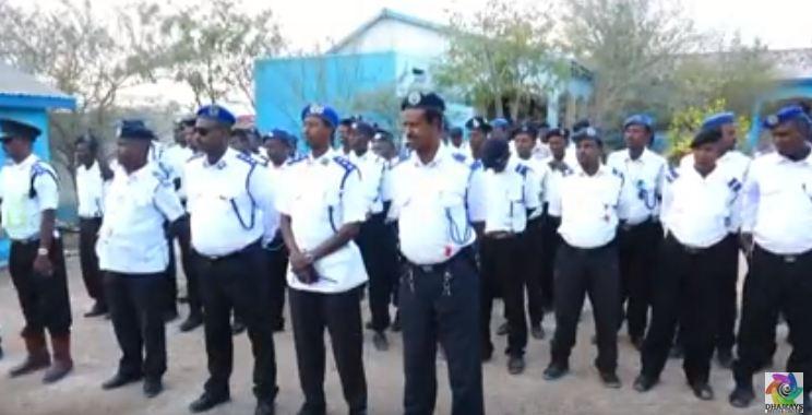 DAAWO Taliyaha Booliska Somaliland Oo Tababar U Soo Xidhay Xubno Kamida Ciidanka Nabadgalyada Waddoyinka Somaliland.