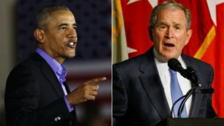 Obama iyo Bush oo sheegay in ay kala qaybsanaan wayn ka jirto Maraykanka