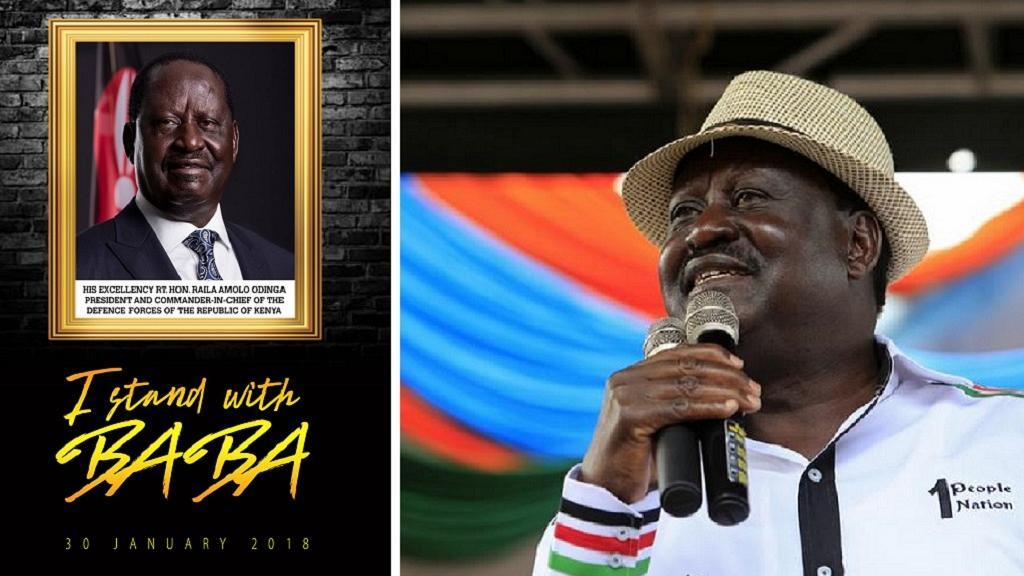 Xiisad ka taagan Kenya, kadib markii hogaamiyaha mucaaradka Raila Odinga uu sheegay in maanta oo tallaado ah loo dhaarin doono xilka madaxtinimada.