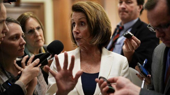 Nancy Pelosi oo Congress-ka Maraykanka ka jeedisay qudbad 8 saacadood ah