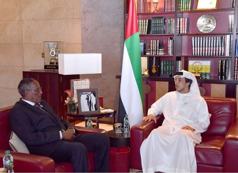 DUBAI: Madaxweyne Muuse Biixi Oo La Kulmay Wasiirka Madaxtooyadda Imaraadka +SAWIRRO