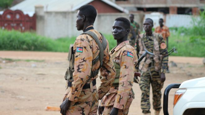 Xadgudubyo lagu eedeeyay ciidammada South Sudan