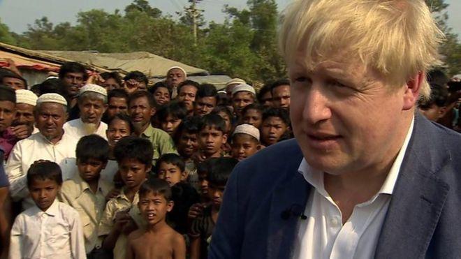Boris Johnson: Qaxootiga Rohingya waa inay si iskood ah guryahooda ugu laabtaan