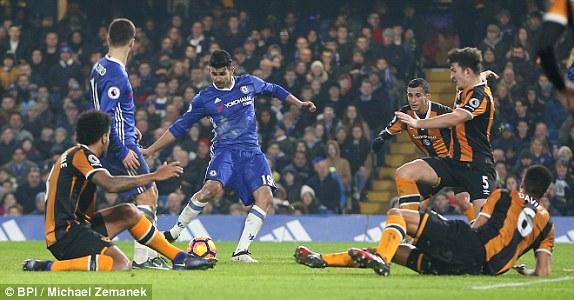 Chelsea Oo Stamford Bridge Ku Garaacday Hull City Xili Antonio Conte & Wiilashiisa Oo Ay Sideed Dhibcood Ku Qabteen Hogaanka Premier Leaque-ga.
