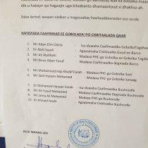 Wasiirka Caafimadka Somaliland Oo Xilkii Ka Qaaday Isu Duwayaasha Wasaarada Caafimadka Gobolada Buhoodle Iyo Togdheer