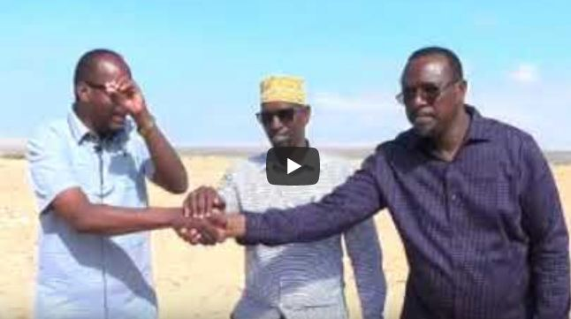Laascaanood: Daawo:Wasiirka Wasaarada Biyaha Somaliland Ayaa Kormeeray Mashruuca Biyo Balaadhinta Magaalada Laascanod