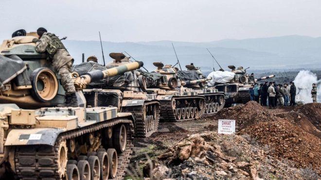 Militariga Turkiga oo la wareegay Tuulooyiin ku yaalla Suuriya
