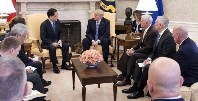 Shiinaha:- Madaxda caalamka oo soo dhaweeysay wadahadal ay yeeshaan Trump Kim Jong un.