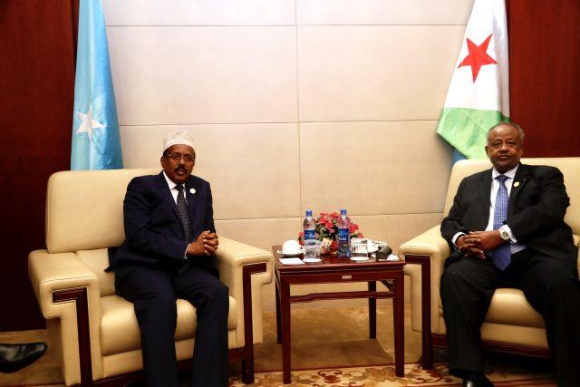 Madaxweynaha Somaliya oo Addis Ababa kula kulmay Madaxweynaha dalka Jabuutiiyo Arimaha Ay Ka Wada Hadleen.