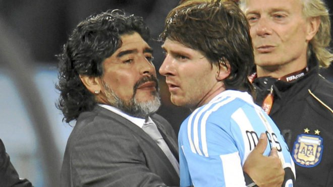 Madaxweynaha Dalka Argentina Mauricio Macri Oo Kala Doortay Diego Maradona & Lionel Messi – Yaase Fiican Labada Halyeey