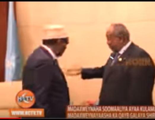 DAAWO:Madaxweynaha Somaliya Oo La Kulmay Madaxweynayaasha Jabuuti Suudan Uganda