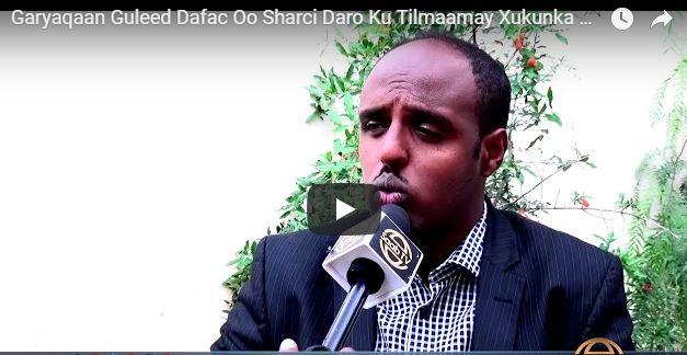 Hargaysa:-Garyaqaan Guuleed Dafac oo Ah Gudoomiyaha Xarunta Xuquuqul Insaanka Somaliland oo Ka Hadlay Xadhiga Buurmadow