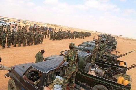 Ciidamada Jiida Hore Ee Qaranka Somaliland Oo Heegan La Galiyay Iyo Madaxweynaha Somalia Oo Ku Soo Wajahana Xuduuda Putland Iyo Somaliland.