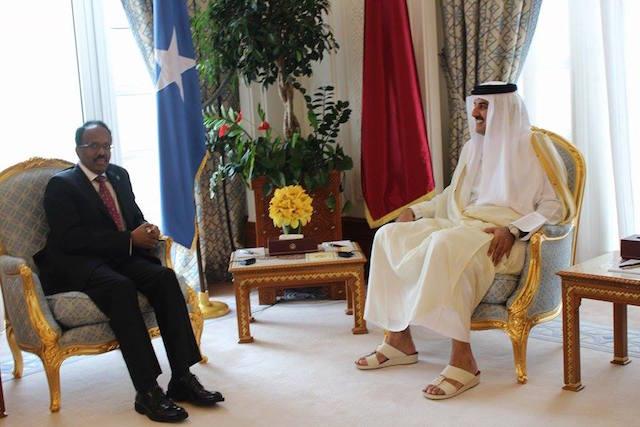 Madaxweyne Farmaajo Oo La Kulmay Amiirka Dalka Qatar Iyo Balan Qaad Ay Dawlada Qatar U Sameysay Somaliya