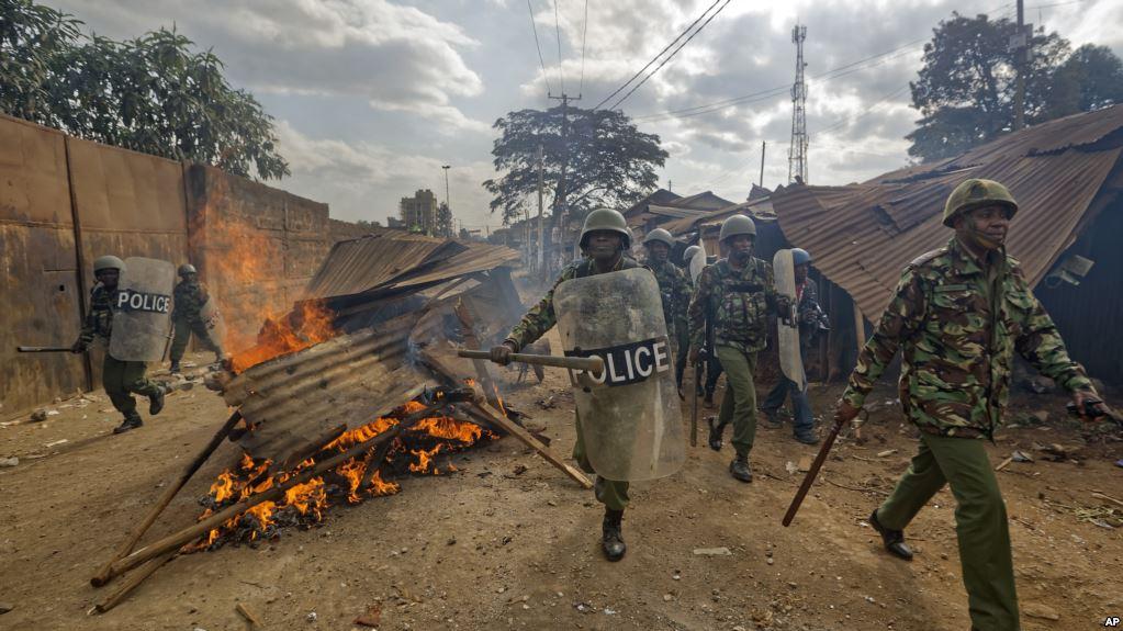 Rabshado Lagaga Soo Horjeedo Guusha Madaxweyne Uhura Kenyatta Oo Ka Dhacay Dalka Kenya.