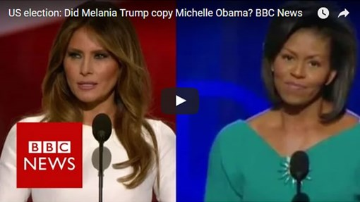 Daawo:Xaaska Donald Trump oo isticmaashay khudbaddii Micheal Obama ee 2008 Oo Fadeexadi Ka Raacday Goobta.